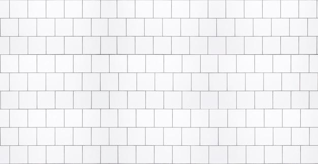 부엌이나 욕실 내부를 위한 흰색 타일이 있는 흰색 타일 배경 벽