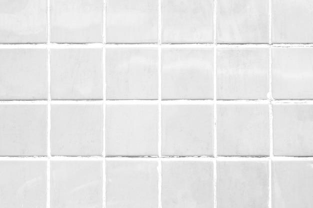 White tile patterned background