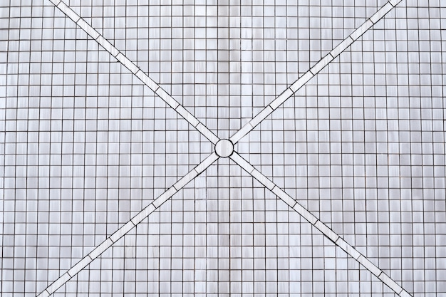 White tile wall background and texture