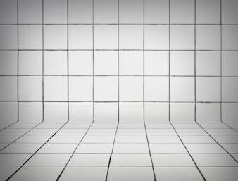 白いタイル張りの背景