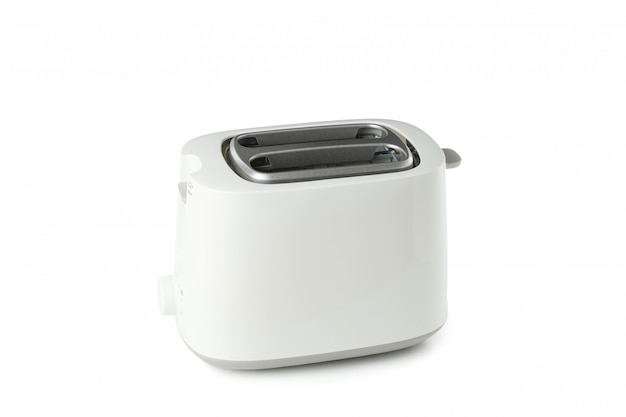 White toaster for bread isolated on white background