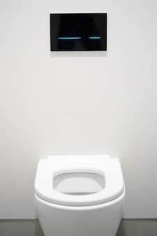White toilet in the bathroom