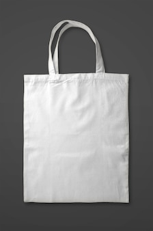 White tote bag isolated