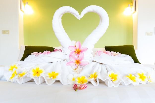 White towel decoration