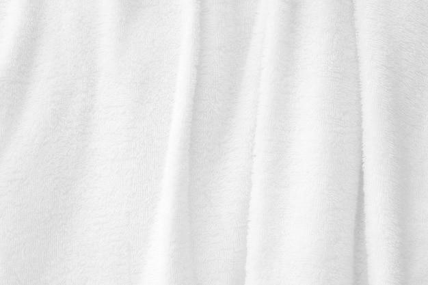 흰색 수건 질감 배경 텍스트에 대 한 욕실 빈 공간에 수건의 부드러운 파도 텍스처를 닫습니다