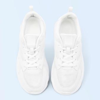 ホワイトトレーナースニーカーユニセックスシューズファッション