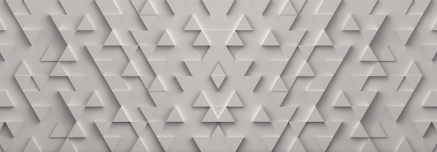 White triangle banner background. 3d rendering.
