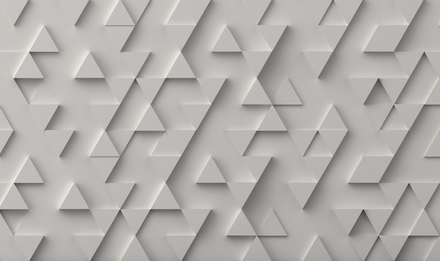 White triangle pattern backdrop. 3d rendering.