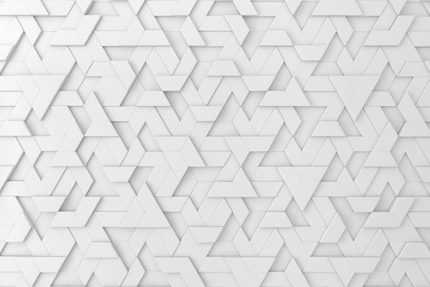 White tridimensional background