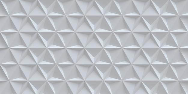 White trigonal background with a shadow white background with 3d effect decorative panel