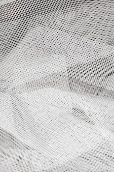 White tulle texture close up