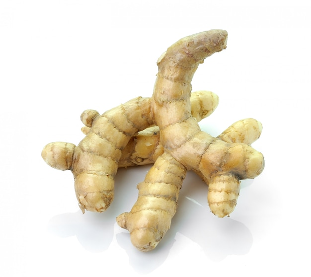 White turmeric isolated on white