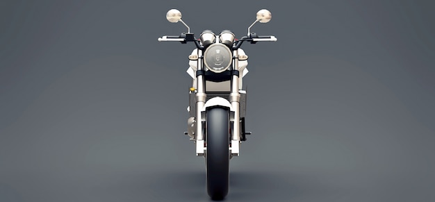 White urban sport two-seater motorcycle