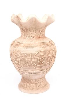 分離された白の白い花瓶