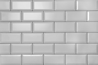 White vintage brick wall