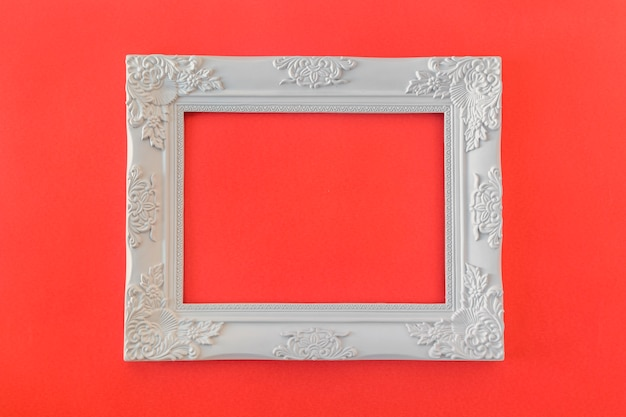 White vintage photo frame