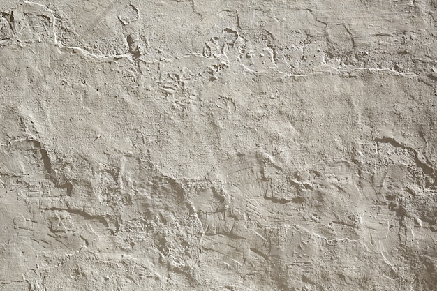 White wall whitewashed with lime