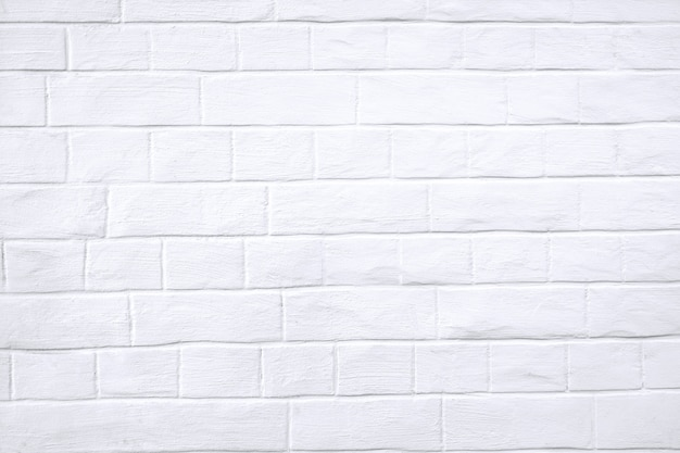 White wall with brickwork texture.
