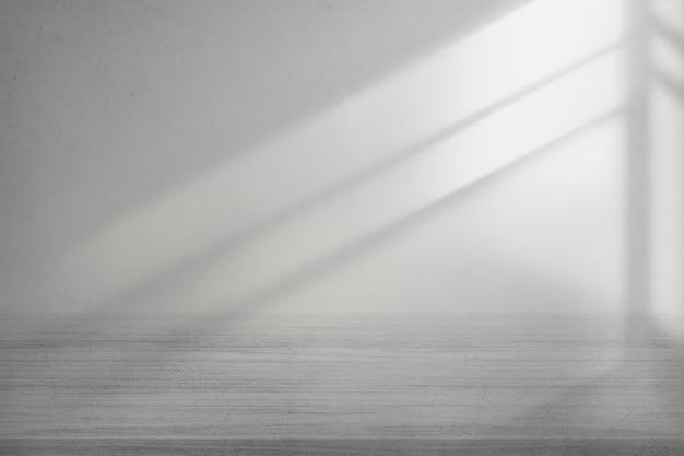 회색 바닥 제품 배경으로 흰 벽