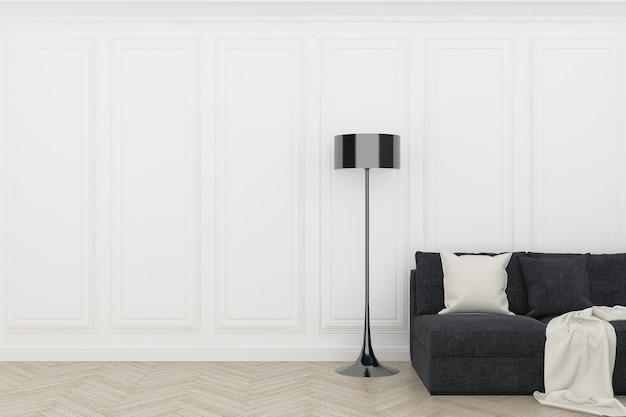 Белая стена с деревянным полом