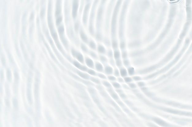 햇빛 또는 잔물결 물 질감 배경에서 흰색 물결 추상. 평면도, 평면도.