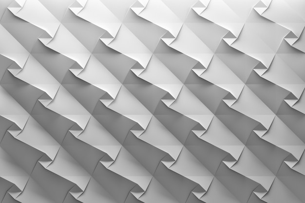 White wave background with small squares and folds Premium Photo