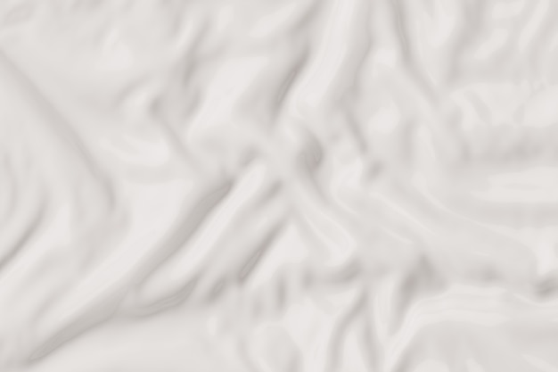 White wavy background with fabric texture 3d rendering