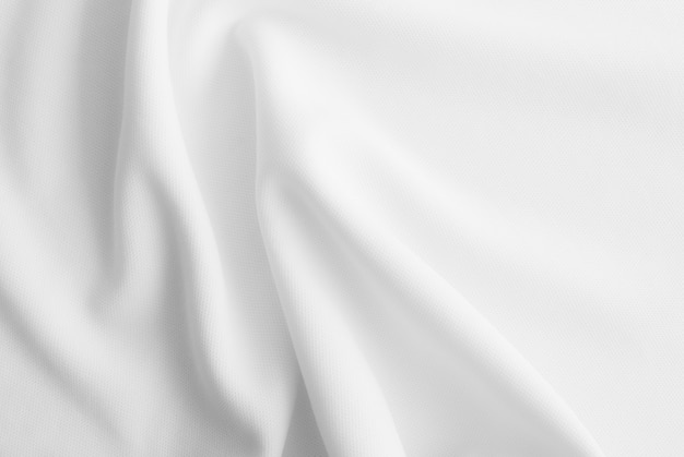 白い波状の服の背景
