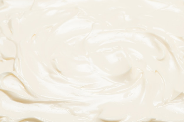 White whipped cream texture. top view.