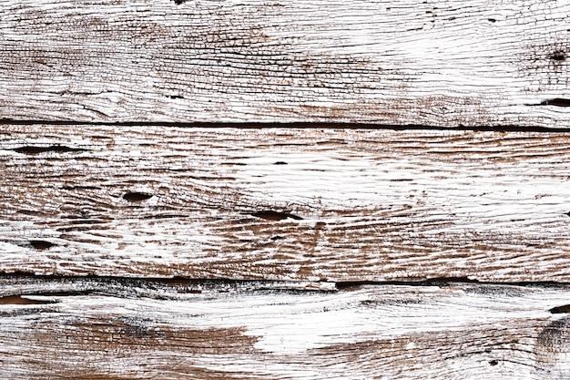白い木の背景素朴な古い風化した皮をむいたヴィンテージレトロな白い塗られた灰色の木の板の壁