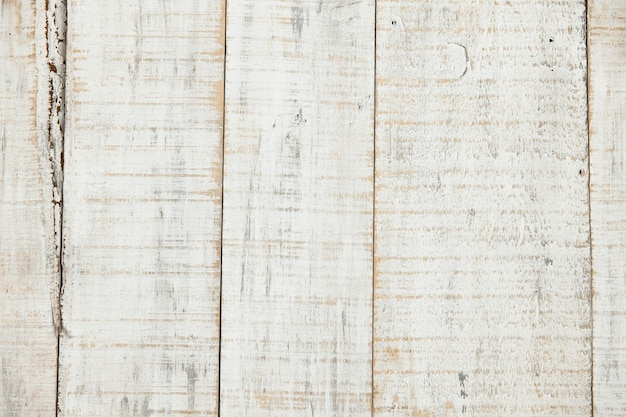 White wood background, natural old painted plank, weathered and scratched, highly detailed photo