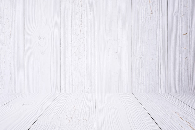 White wood background wall and floor.