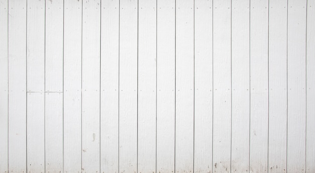 White wood fence background and texture.