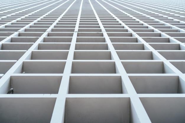 Белый деревянный фон здания решетки