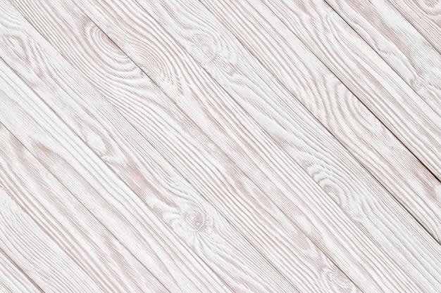 白のウッドテクスチャ、背景の木製テーブルトップビュー