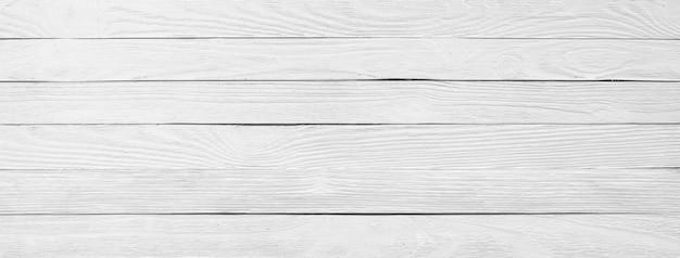 白いウッドテクスチャのクローズアップ、木製のテーブル表面の背景、パノラマ
