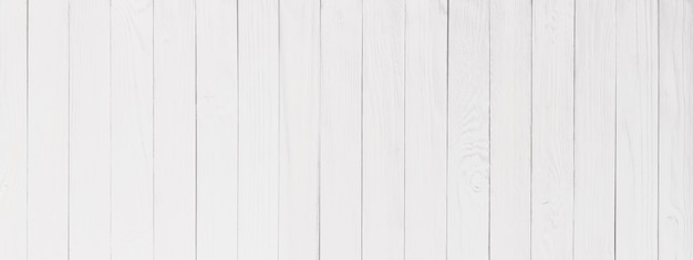 White wood texture close-up, wall of a wooden table surface, panorama