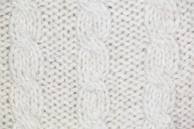 White wool fabric