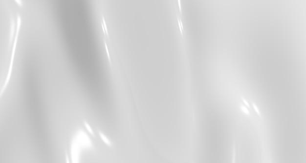 白いしわの背景光沢のある素材がはためく抽象的なモーションブラー
