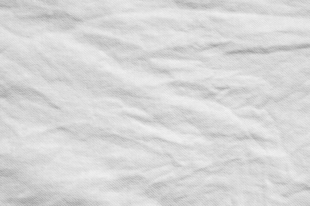 白いしわ綿シャツ生地布テクスチャパターン背景