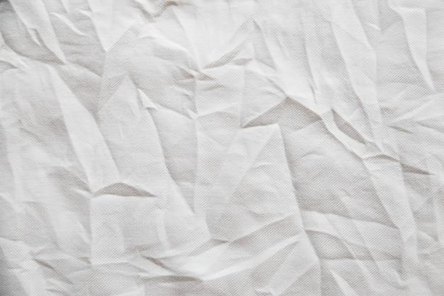 Белый морщинистый холст ткань текстуру фона