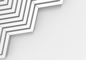 White zig zag  pattern bars on copy space gray background.