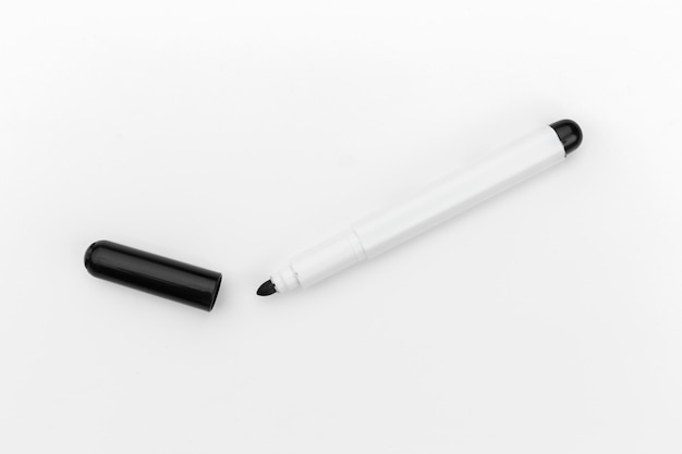 Whiteboard marker isolated on white background