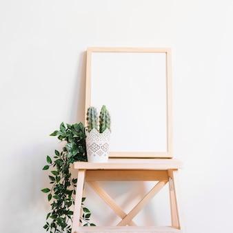 Whiteboard on stool