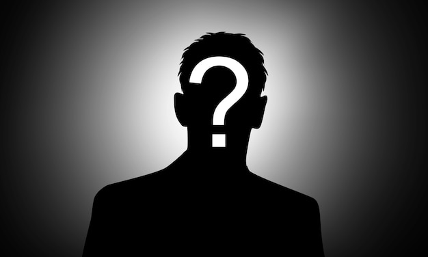 Who agent anonymous background black blank concept