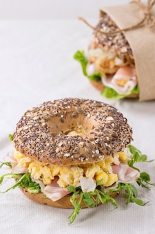 Whole grain bagel