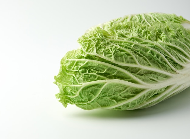 Whole head of green beijing cabbage