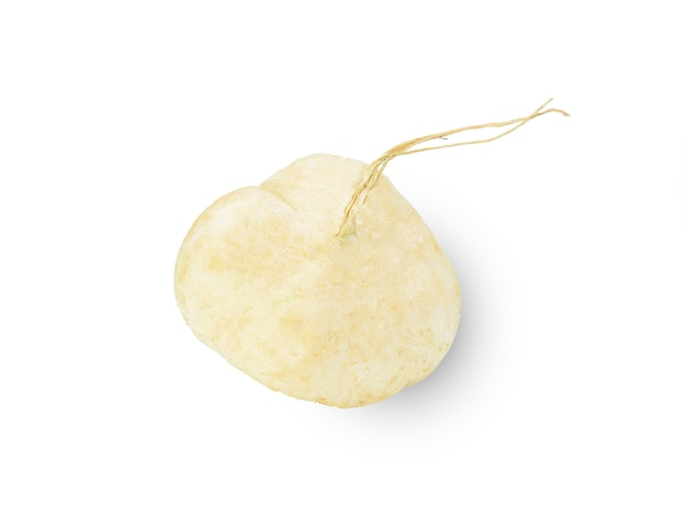Whole jicama isolated
