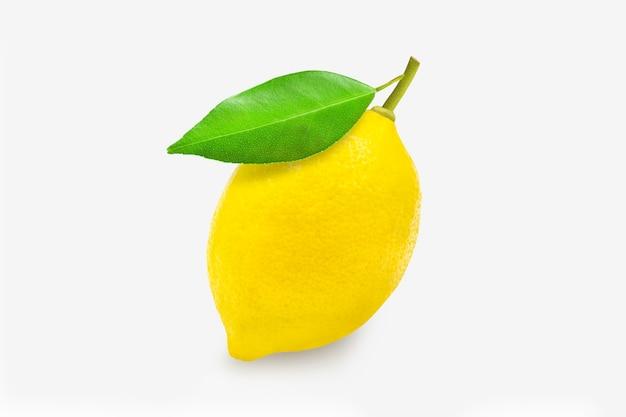 클리핑 패스와 함께 흰색 절연 된 표면에 전체 유기농 레몬