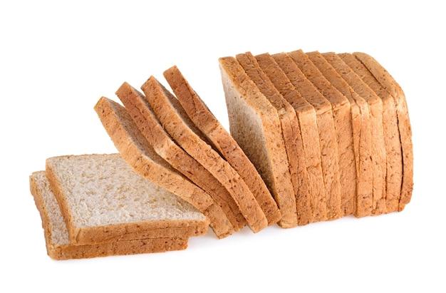 통 밀 빵 흰색 절연